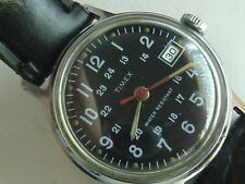 Vintage Military style Mechanical Timex 24 hr dial watch 1972