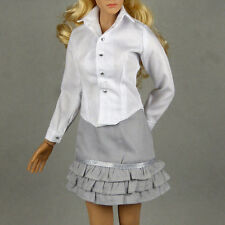 1/6 Scale Phicen, Hot Toys, Kumik & NT Female White Shirt & Gray Skirt Set