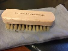 Brunello Cucinelli shoe brush for Suede with dust bag.  Made in Italy