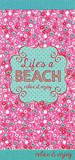 Toalla de Playa Grande Microfibra Suave-Life 's a Playa Baño Deportes Ligero Gimnasio