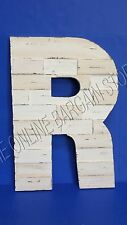 Pottery Barn Teen Reclaimed Pine Wood Hand Carved Rustic Letter Capital R