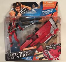 "MARVEL UNIVERSE X-MEN ORIGINS WOLVERINE DEADPOOL 3 3/4"" FIGURE W/ MISSLE CANNON"