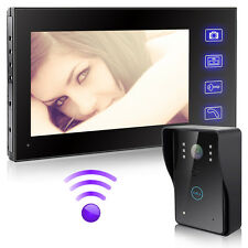 "2.4G Wireless 7""TFT Monitor Home Video Doorbell Security Intercom Camera System"