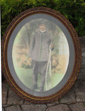 antique Oval FRAME w/ print of SOLDIER