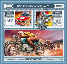 Togo 2016 MNH BMW 100th Anniv 1v S/S 1975 BMW 3.0 CSL Cars Motorcycles Stamps