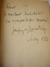 LA VIE INQUIÈTE DE JEAN HERMELIN  Jacques de Lacretelle  avec envoi de l'auteur