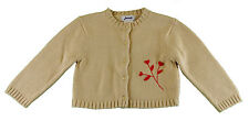 JACADI Girl's Calicot String Beige Cardigan Jersey Age 2 Years NWT $68