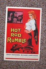 Hot Rod Rumble Lobby Card Movie Poster Leigh Snowden