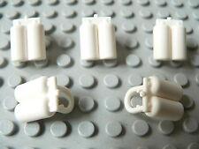 Lot de 5 bouteilles d'oxygène blanches / white airtanks, LEGO Space, #3838
