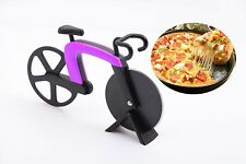 Hot Sale Bicycle Pizza Cutter Non stick Stainless Steel Bike Wheel Knife Slicer