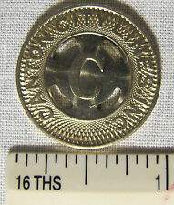 Vintage Canton Ohio City Lines Transit Token White Metal Big C whotoldya
