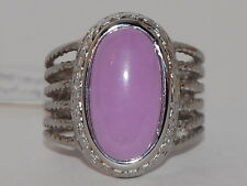 Natural Purple Jade Ring, Size 8