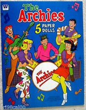 Vintage The Archies TV Cartoon Show uncut paper dolls-near mint-1969