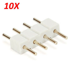 10X White 4pin Male Connector For RGB 5050/3528 LED Strip Light Connect