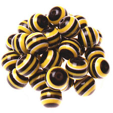 10pcs 20mm Resin Striped Beads for Pendant Charm Bracelet Necklace Bubblegum