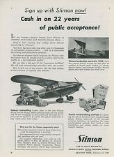 1948 Stinson Personal Airplanes Ad Become a Dealer Flying Station Wagon