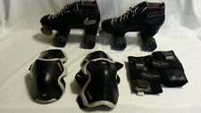 Cobra roller derby boots size 6 power formula wheels w hand, elbow, wrist guards