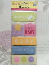 NEW 6x MAMBI  ME & MY BIG IDEAS - THREADS JUMBO WOVEN LABELS NEW PRECIOUS BABY