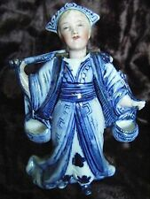 Rare Antique 19th Century Chinese Porcelain Nodder Figurine - ( Has damage)