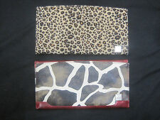 Lot 2 Miche Classic Shell Zebra & Leopard Faux Fur