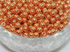 100Pcs Orange Glass Pearl Czech Round Loose Spacer Beads Jewery Findings 4mm