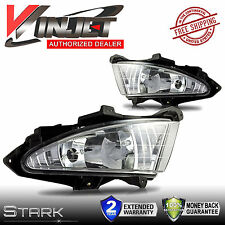 2007-2010 Elantra Bumper Fog Lights Clear Lens Front Lamps FULL KIT SET - PAIR