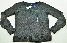 women's CHAP'S black & gray sweater size 3X MSRP $75 gunmetal color new