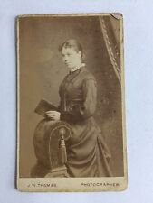 Victorian Carte De Visite CDV Photo: Young Lady: JW Thomas: Hastings
