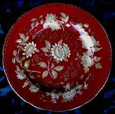 """WEDGWOOD TONQUIN RUBY 5 LUNCHEON PLATES 9.25"""" EXC."""