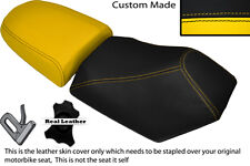 BLACK & YELLOW CUSTOM FITS BAOTIAN FALCON 50 2 PIECE DUAL SEATS COVERS