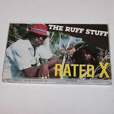 Rated X Ruff Stuff Cassette Tape Hip Hop SEALED '90 Tandem Cali Random Rap
