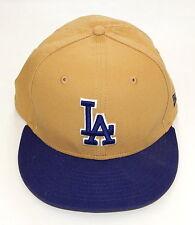 New Era Los Angeles LA Dodgers Tan and Blue Snapback Cap 9FIFTY Adjustable Hat