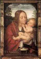 Metal Sign Massys Quentin Virgin And Child In A Landscape A4 12x8 Aluminium