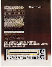 Original Print Ad-1979 TECHNICS RECEIVERS-Big Power, Low Distortion, LED Meters…