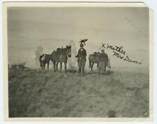 New Mexico Mountain Woman named DAVIS & Horses 1914 -  American Culture