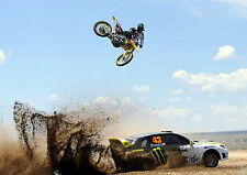 KEN BLOCK MONSTER ENERGY MOTOCROSS MOTORBIKE Photo Poster Print A4 260GSM