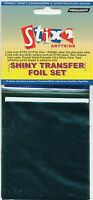 10 SHEETS TRANSFER FOILS SEA TONE COLOURS SHINY TURQUOISE GREEN BLUE GREY WHITE