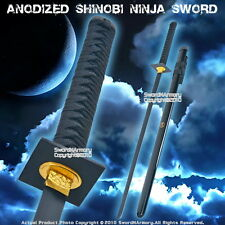 Anodized Shinobi Ninja Sword Ninjato with Black Blade And Fitting Cosplay
