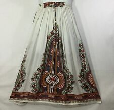 Indian Long Nonsequin belly skirt Women full length Maxi Skirt Boho Hippie White