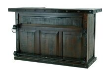 Rustic Gran Hacienda Bar Real Solid Wood Western Cabin Lodge Old West