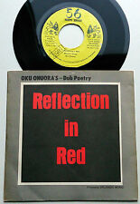 """Oku Onuora - Reflection in red / Reflection in Dub - 56 Hope Road 7""""er Jamaica"""