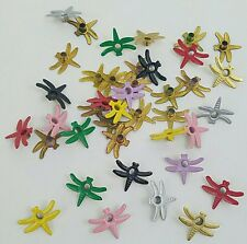 Scrapbooking Eyelets 40 Dragonfly Embellishments Spring Paper Crafts 8 Colors