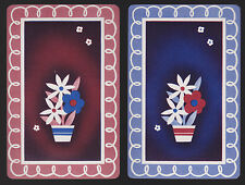 2 SINGLE VINTAGE SWAP PLAYING CARDS ID FLOWERS 'FLOWER POT- FC-8-25'