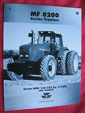1999 MF MASSEY FERGUSON 8200 SERIES TRACTORS SPEC SHEET/FOLDER BROCHURE MINT