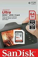 64GB SanDisk Ultra SDHC UHS-I Card Memory Class 10  80Mb/s UK SELLER