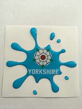 Yorkshire Sticker Splat. Liquid Look Gel 3D Dome Resin.