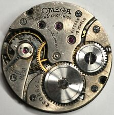 OMEGA WRIST WATCH MOVEMENT 15 JEWELS CAL 23.7 3 ADJ FOR PARTS/REPAIRS #884