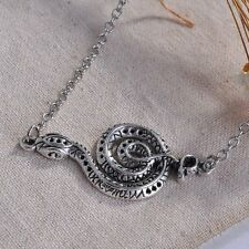 New Fashion Retro Silver Snake Pendant Necklace Jewelry Chain Party Present Gift
