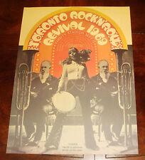 TORONTO ROCK N ROLL REVIVAL 1969 CONCERT POSTER The Doors, John Lennon, Clapton