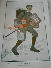 1913 Original Print M. Ballif second touriste de France Caricature